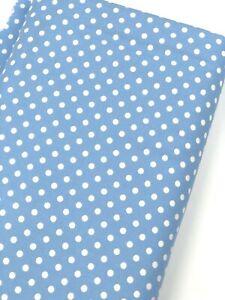 Dumb Dot SKY BLUE 100% Cotton Michael Miller Quilt Fabric per Half (0.5) Metre