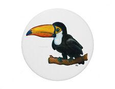 Toucan bird pin badge 7.7cm diameter