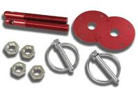 Red Hood Pin Kit Flip-Over Style Universal for Chevy, Ford, Mopar, Hot Rod, etc.