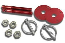 Chevy, Ford, Mopar, Hot Rod, etc. Universal Style Red Hood Pin Kit Flip-Over