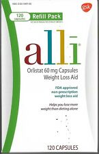 Alli Refill, 3 Boxes, Orlistat 60mg Capsules, Weight Loss Aid, FDA approved, new