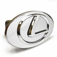 Lexus Chrome Logo Emblem Steel Tow Hitch Cover with Locking Pin