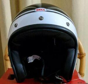 Bell Custom 500 Helmet Streak Gloss Black/White XL DOT ECE  61-62 CM