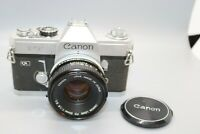 Canon FT QL  35mm SLR Film Camera with 50 mm 1:1.8 Lens--Great Shape