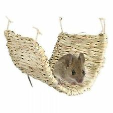 Natural 100% Grass Reed Rush Hammock Mat for Rats Ferrets Degus Hamsters Rodent