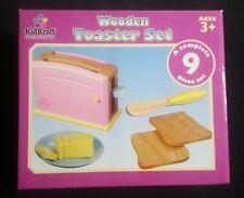 Kidkraft Wooden Kids Pastel Toaster Set Pretend Play Kitchen Toy -63162 +1 plate