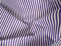 Striped Polycotton fabric 4mm Stripe PURPLE Stripe Fabric 150cm wide Free Sample