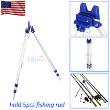 Portable Folding Fishing Rods Tripod Stand Rest Tackle for Sea Beach Travel US
