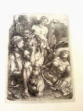 Albrecht Durer 11.5x17 1500 B.70 engraving figures