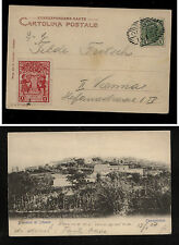Austria  post  card  with  label  local use  1907        KL0313