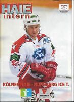 KEC KÖLNER HAIE - NÜRNBERG ICE TIGERS, 21.02.1999, DEL Eishockey Programm 98/99