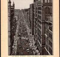 Chicago 1890's LaSalle Street View Photo-Lith Jersey Coffee Victorian Trade Card