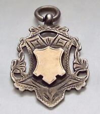Antique Vintage 1911 Sterling Silver & Gold Fob Medal