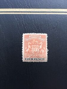 British South Africa Company / Rhodesia 1892-94, 4PENCE STAMP, SG22 FRESH MINT
