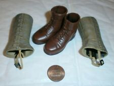 Dragon US boots and plastic gaiters 1/6th scale toy accessory