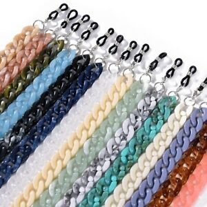 Fashion Acrylic Sunglasses Lanyard Chain Eyeglasses Cord Holder Neck Strap Rope