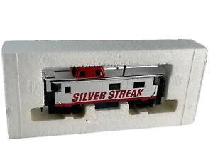 HO Vintage Tyco Silver Streak 8 Wheel Caboose 607 327-60 in Original Box