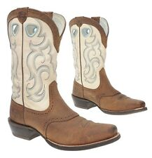 ARIAT Cowboy Boot 9 B Womens WESTERN BULLHIDE Leather Square Toe Roughstock Boot