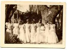 Mariage Marie demoiselles d'honneur femmes - photo ancienne an. 1930