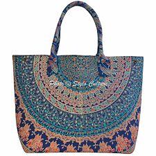 Indian Elephant Mandala Tote Bag Womens Hobo Cotton Shoppers Hand Bag Ethnic