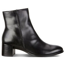 Ecco Womens Boots Shape 35 Block Casual Heeled Zip-Up Ankle Leather