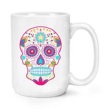 Colourful Sugar Skull 15 oz (environ 425.24 g) Mighty Mug Tasse-Big Large