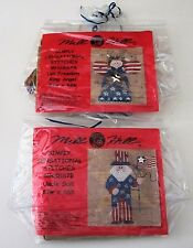 Lot of 2 MILL HILL UNCLE SAM and LET FREEDOM RING ANGEL XStitch Beaded Kits 2002