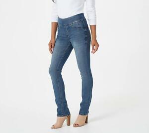 Laurie Felt Regular Silky Denim Straight Leg Jeans (Sun-Kissed Dark, XL) A385112