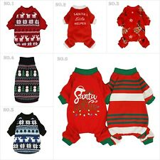 Fitwarm Christmas Dog Sweater XMAS Puppy Knitwear Pet Winter Clothes Pajamas NEW