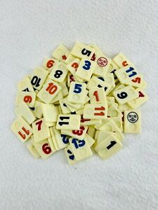 Rummikub Classic Board Game Replacement Tiles Pieces Parts Pressman