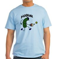 CafePress Pickleball Pickle Art Light T Shirt 100% Cotton T-Shirt (1153412111)