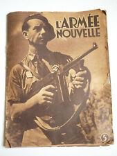 L'ARMEE NOUVELLE – Pétain, Darlan, Huntziger,1941, Rare, port gratuit !