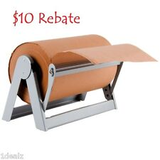 "12"" Paper Cutter Dispenser for Butcher Gift Wrap and Kraft Roll Paper + Rebate"