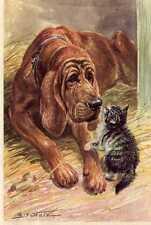 Bloodhound - Matted Dog Art Print - German / New U