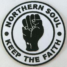 Northern Soul Fist Patches, Iron on, Mod, Ska, Badges, Keep The Faith