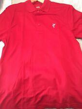 Ashworth Men's Golf Polo Shirt Size Medium, Dark Red
