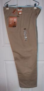 Haggar Work To Weekend Khaki Pants 34x29 Classic Fit Pleated 100% Cotton NWT
