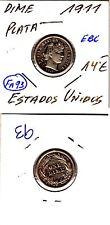 FA093 MONEDA ESTADOS UNIDOS 1DIME PLATA 1911 EBC