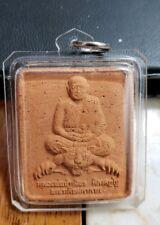 LUANG PHOR PERN BUDDHIST TEMPLE AMULET IN HARD PLASTIC PENDANT CASE