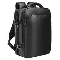 Men Leather 15'' Laptop Backpack Shoulder Bag Luggage Travel Bag Handbag Daypack