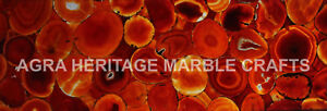 4'x2' Marble Conference Table Top Red Onyx 3mm Backlit Inlay Kitchen Slab E256