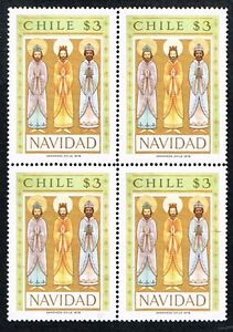 CHILE 1978 STAMP # 938 MNH CHRISTMAS BLOCK OF FOUR