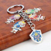 The Legend of Zelda Hyrule Shield Link Enamel Novelty Keyring Keychain Gift Bag