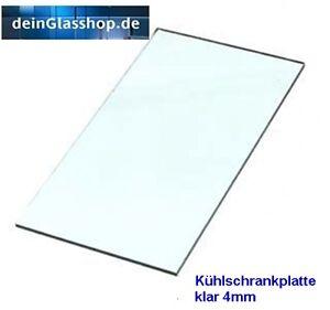 Kühlschrank-Platte Glasboden  Einlegeboden  Ersatzglas Glasplatte Echtglas NEU