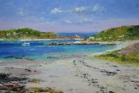 Richard Blowey Original Oil Painting - Isles Of Scilly Cornwall - Cornish Art
