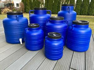 Weithalsfass 5/10/20/30/40/60/80 l Sauerkrautfas Regen Fass Gepäcktonne Camping