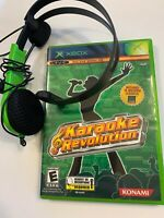 Karaoke Revolution & Microphone Headset Bundle Lot XBOX OG Game Complete
