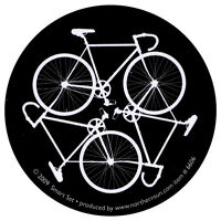Bike Cycle - Small Bicycling Bumper Sticker / Decal