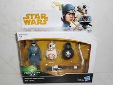 New Hasbro Star Wars Force Link 2.0 ROSE (FIRST ORDER DISGUISE) & BB-8 & BB-9E