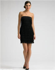 $465 Jay Godfrey Lola Strapless Fringe Little Black Dress 4